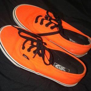 Neon orange vans